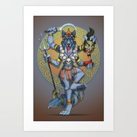 Collie Kali Art Print