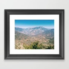 Kings Canyon Framed Art Print