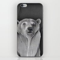 teddy bear iPhone & iPod Skins featuring Teddy Bear by Puddingshades