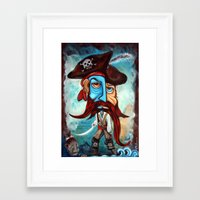 pirate Framed Art Prints featuring Pirate by Laura Barbosa Art