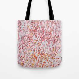 Brushed Red, Yellow, Silver Painting Tote Bag