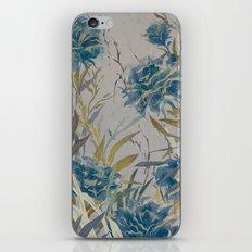 vintage asian floral iPhone Skin