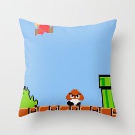 Minion's Last Rites: Mario's Goomba Throw Pillow