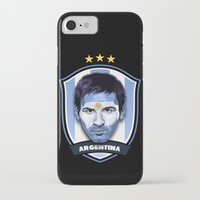 messi iPhone & iPod Cases featuring Messi by Rudi Gundersen