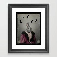 Miss Bunny Framed Art Print