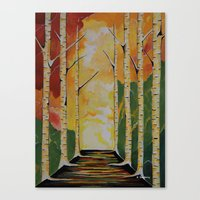Canvas Prints featuring Meet Me By The Birches by Sartoris ART