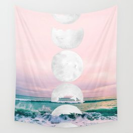 The Moon and the Tides Wall Tapestry