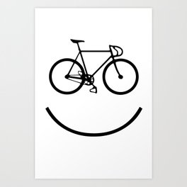 Smiley bike Art Print