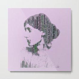 Virginia Woolf Book Titles  Metal Print