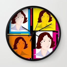 Emily Brontë (Bronte) - English author of Wuthering Heights Wall Clock