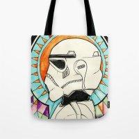 trooper Tote Bags featuring TROOPER by KMLS