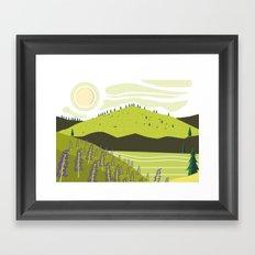 Field of Lupins Framed Art Print