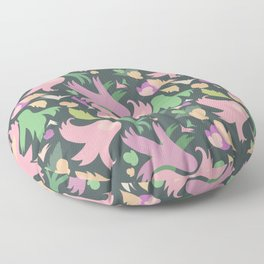 The powerful and pink spring is coming Floor Pillow