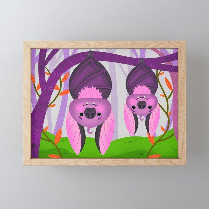 Bat Family Framed Mini Art Print