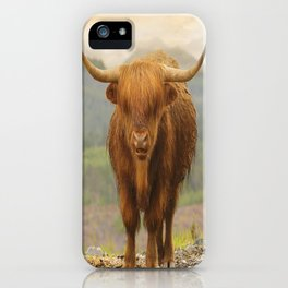 Highland Moo iPhone Case