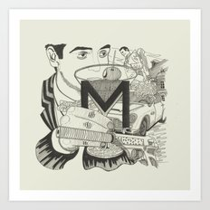 M is for Martini Art Print