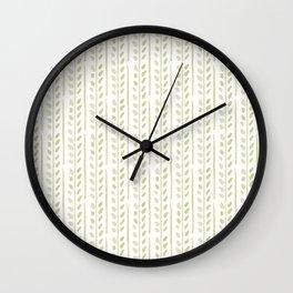 Helecho stripes Wall Clock