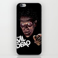 evil dead iPhone & iPod Skins featuring The Evil Dead by Dr. Eff Designs