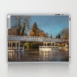 The Toll Bridge At Whitchurch-on-Thames Laptop & iPad Skin