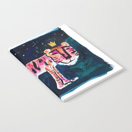 Toucan and Tiger in the Night Sky Painting Notebook