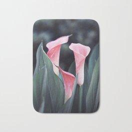 Pink Calla Flowers Bath Mat