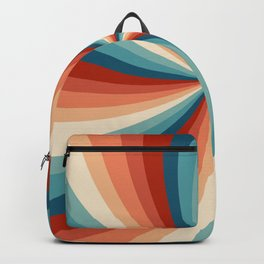 Colorful retro style sun rays Backpack