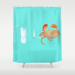 Chain Reaction Shower Curtain