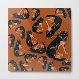 Black dingo pattern (c) 2017 Metal Print
