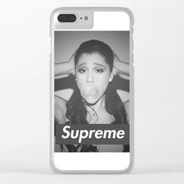 ariana bubblegum x  supreme Clear iPhone Case