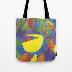 There was an old man, on whose nose,  Most birds of the air could repose. Tote Bag