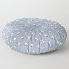 elegant silver star pattern Floor Pillow