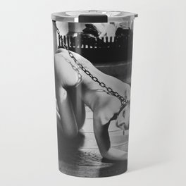 Photograph My slave girl in black and white Travel Mug