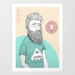 BEARDMAN Art Print
