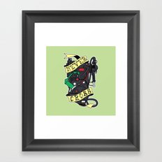 Never Cross Framed Art Print