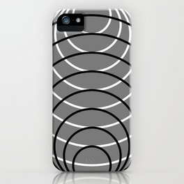 Black Over White Over Gray iPhone Case