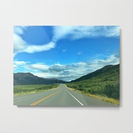 Into the Wild - Road Life Metal Print
