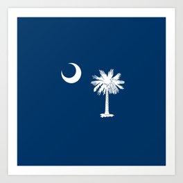 flag south carolina,america,us,Savannah,Palmetto,Carolinian,cotton,Confederate,Goose Creek,Rock Hill Art Print