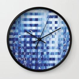 Nautical pixel abstract pattern Wall Clock