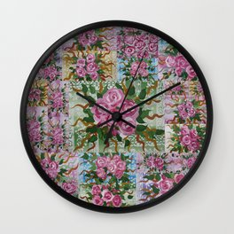 roses in pastels Wall Clock