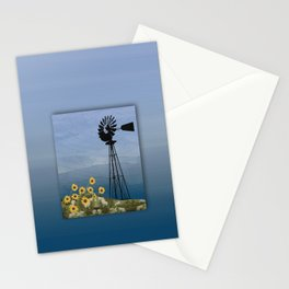 Wind Pump American Style Windmill Stationery Cards
