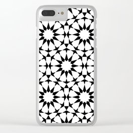 Arabesque in black and white Clear iPhone Case