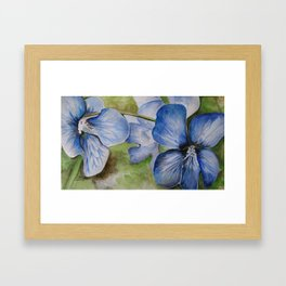 Violets Watercolor Painting Framed Art Print