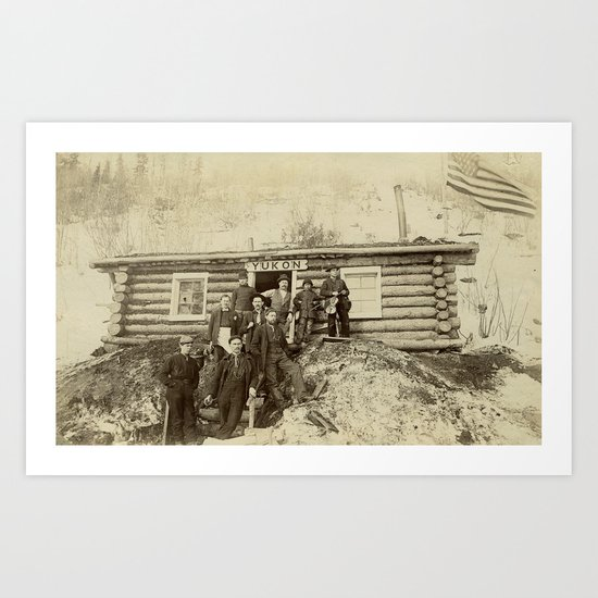 Turn of the Century Americans in the Yukon Art Print