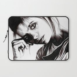 Beauty Model Drawing Photorealism Design Laptop Sleeve