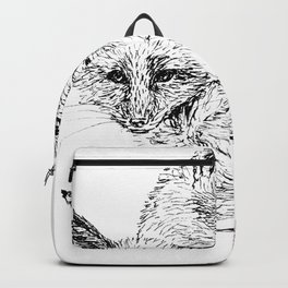 Foxes napping Backpack
