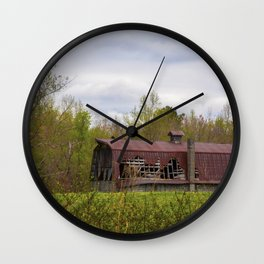 Red Roof Barn Wall Clock