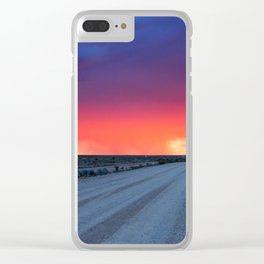 Backroad to Heaven Clear iPhone Case