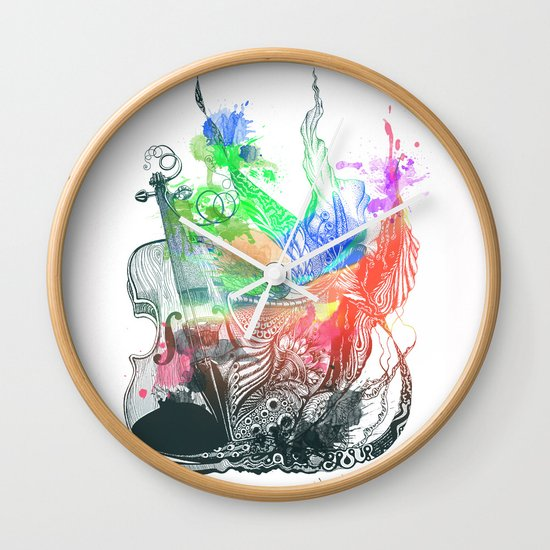 Fiddle Wall Clock