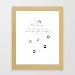 beard haiku no12 Framed Art Print
