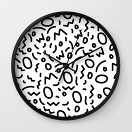 Black and White Abstract Pattern Wall Clock